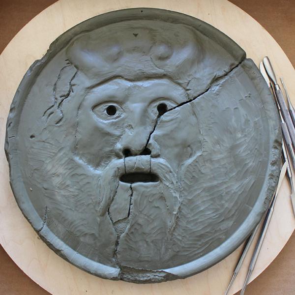 Clay sculpting in progress